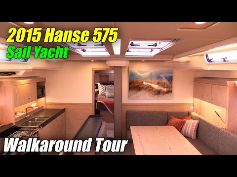 2015 Hanse 575 Sailing Yacht - Deck and Interior Walkaround - 2015 Annapolis Sail Boat Show
