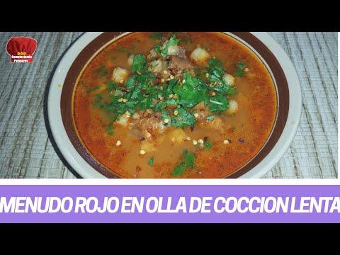 MENUDO ROJO con Pancita de res en olla lenta receta mexicana- Complaciendo Paladares