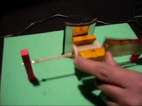 Experimentos de Física : MOTOR ELÉCTRICO, MODELO CON 2 ESPIRAS -- www.tallerdefisica.tk