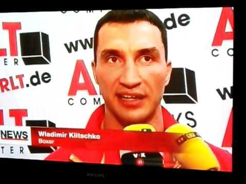 Pressekonferenz zum WM-Kampf Klitschko vs. Haye 4.