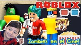 El Cine Zombie en Roblox   ESCAPA DEL CINE   Roblox Obby en Español