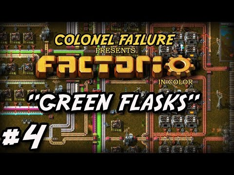 Factorio #4 : Automated green flasks : power outage