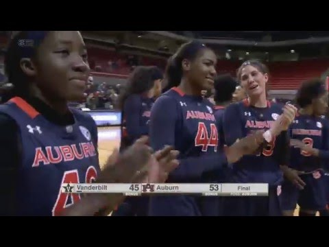 Auburn Women's Basketball Defeats Vanderbilt 53-45