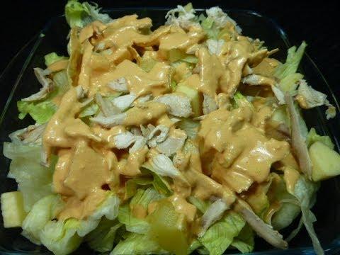 Ensalada de pollo, receta fácil y barata.