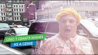 Greg T The Genie Grants Wishes on the NYC Streets | Elvis Duran Exclusives