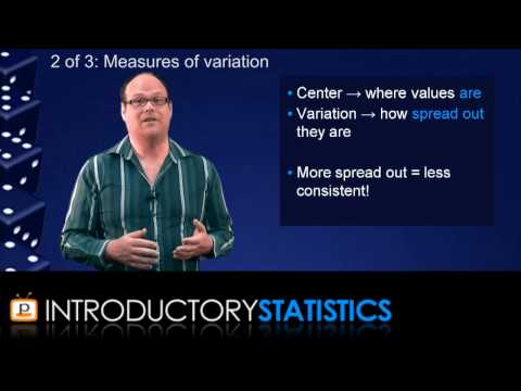 Introductory Statistics - Chapter 3: Measuring data