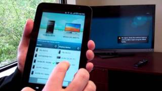 DLNA Demo with Samsung Tablet and Sony TV