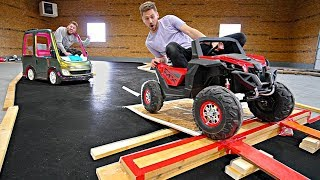 INDOOR TOY CAR RACE TRACK!