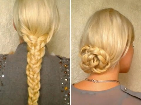 Hair tutorial for long hair Easy heatless hairstyles with braids ...
