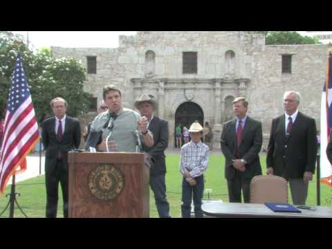 Texas Governor Rick Perry signs legislation protecting private property rights in Texas.
