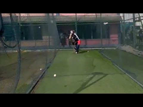 England cricket - in the nets with Ravi Bopara - Google Glass