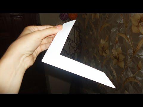 Бумеранг из бумаги  - Летает и возвращается