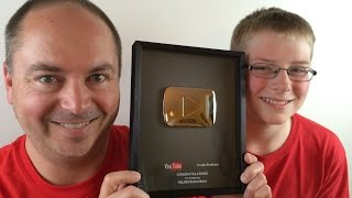 Silver Play Button unboxing 100,000 Subscribers : Crude Brothers