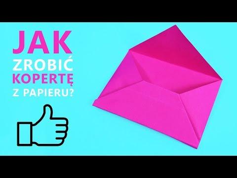 Jak Zrobić Kopertę Z Papieru - Papierowa Koperta | DIY