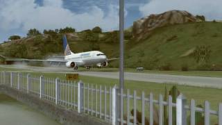 737 landing at St Barths (787dreamlinerBoeing's contest entry)