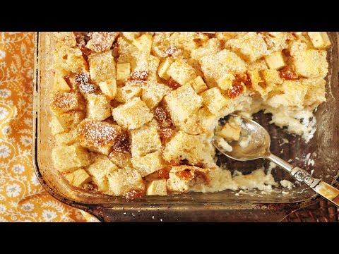 Old Fashioned Bread Pudding Recipe Youtube
