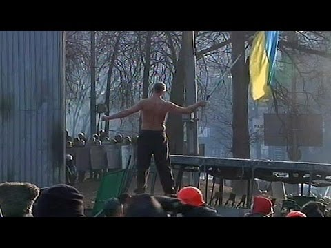 Ukraine: Clashes between riot police and anti-government protesters continue - no comment
