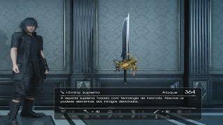 """Final Fantasy XV - Onde encontrar """"Lâmina Suprema"""" a melhor Espada para início do jogo"""
