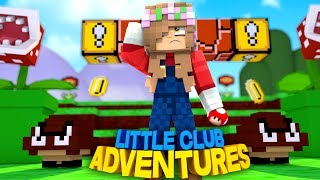 LITTLE KELLY PLAYS SUPER MARIO IN REAL LIFE!!! - Minecraft Little Club Adventures