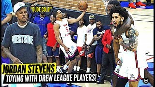 JORDAN STEVENS CLOWNING AT DREW LEAGUE PLAYERS!! ASKIA BOOKER HITS CRAZY GAME WINNER..AGAIN!!!