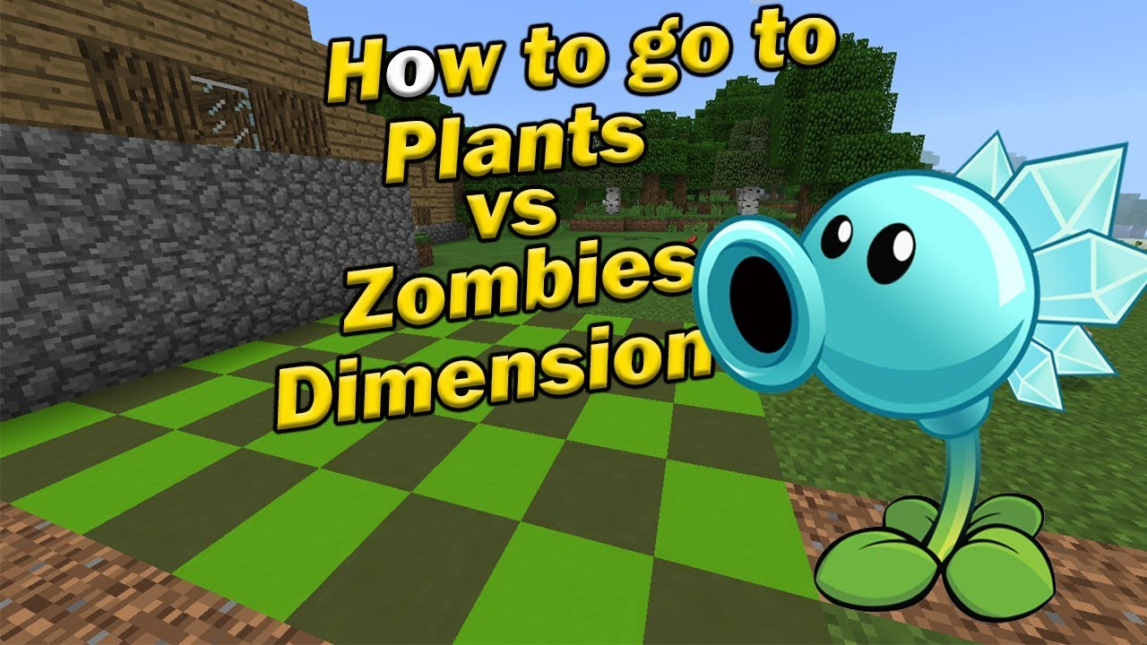 How to go to PLANTS VS ZOMBIES DIMENSION | Minecraft PE