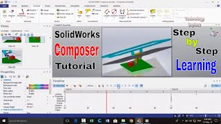 How to make Animations in SolidWorks Composer Tutorial STEP by STEP