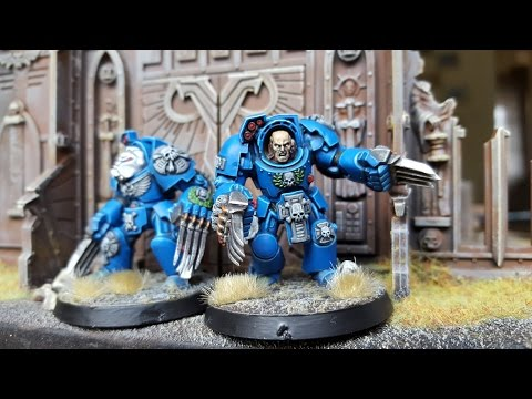 Warhammer 40k tutorial  Painting Terminators