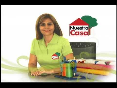 Sonia Franco. Programa Nuestra Casa. Cubre Máquina con aplicaciones 1/5
