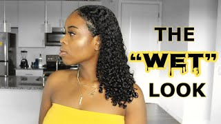THE WET LOOK on Natural Hair | Type 3 JUICY Curls | ONLY 2 PRODUCTS!