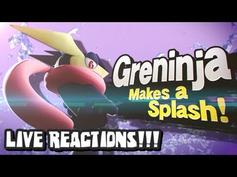 Super Smash Bros Wii U and 3DS - LIVE REACTIONS TO GRENINJA REVEAL - Nintendo Direct