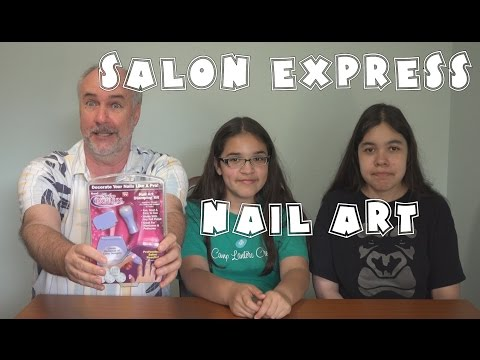 Salon Express Nail Art Review- As Seen On TV   RainyDayDreamers in 4k CC