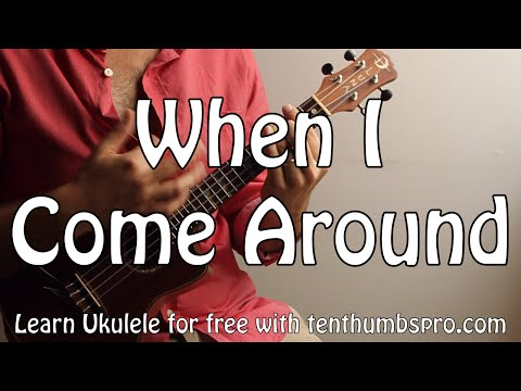 When I Come Around - Green Day - Punk Rock Ukulele Tutorial - Barre Chords