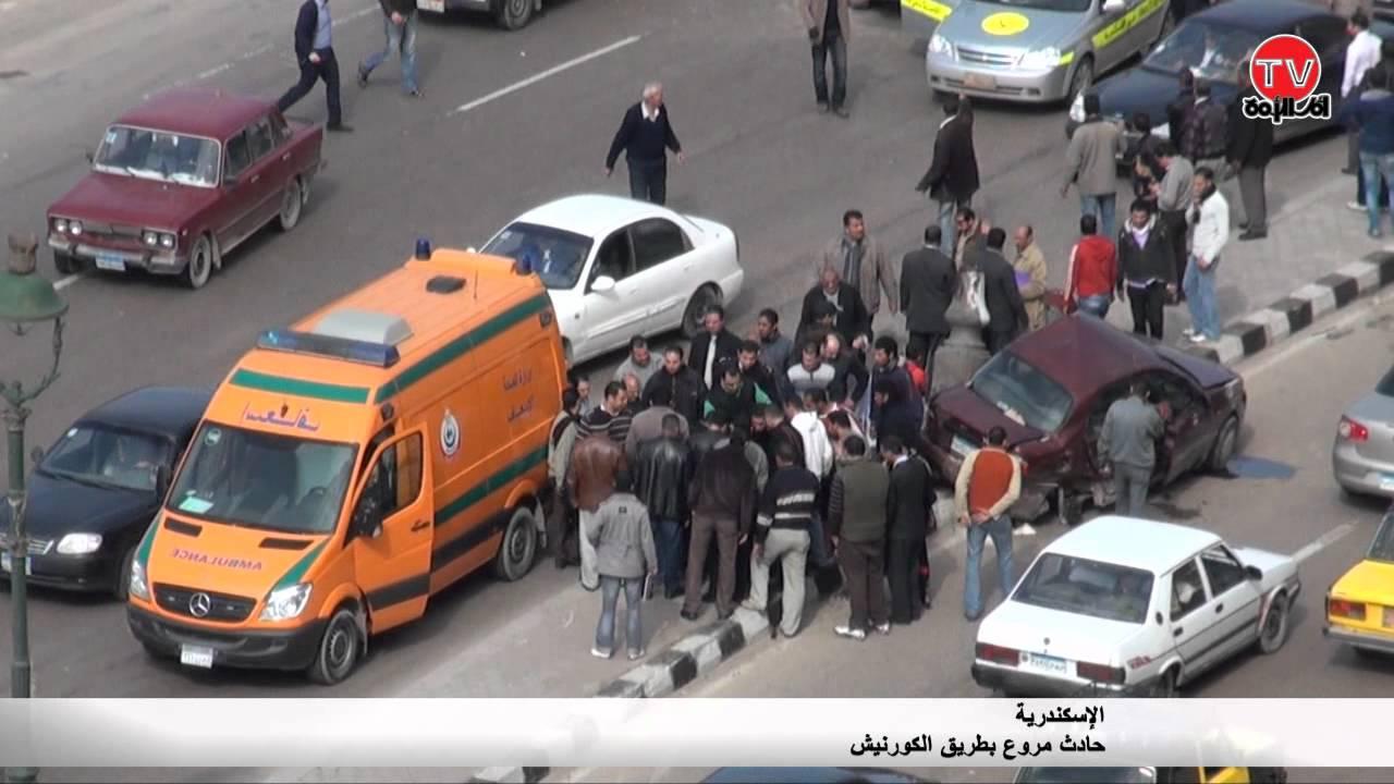 AlexTv:حادث مروع على كورنيش