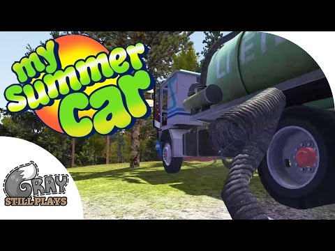 My Summer Car - How to Suck Sewage to Make Money, More Police Interaction - Gameplay Highlights Ep 5