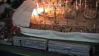 HO scale model circus train