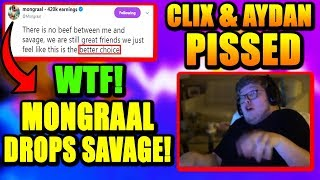 Mongraal & Benjyfishy DROP MrSavage.. Clix & Aydan FREAK OUT Over Mech!