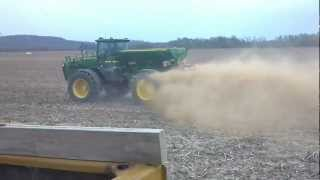 8103 Terra gator and 4940 John Deere spreading Lime in same field