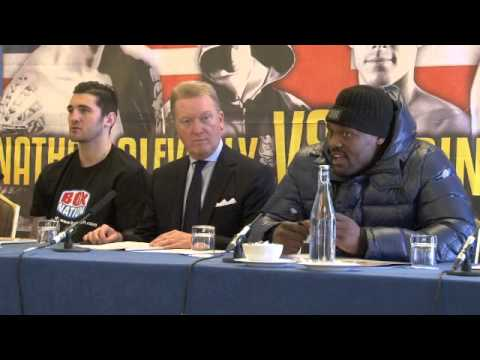 FRANK WARREN, DERECK CHISORA, NATHAN CLEVERLY & LIAM WALSH - FULL PRESS CONFERENCE / RULE BRITANNIA