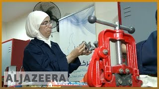 Syrian female plumbers break taboos in Jordan