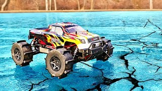 RC CAR DRIFTING ON ICE!!