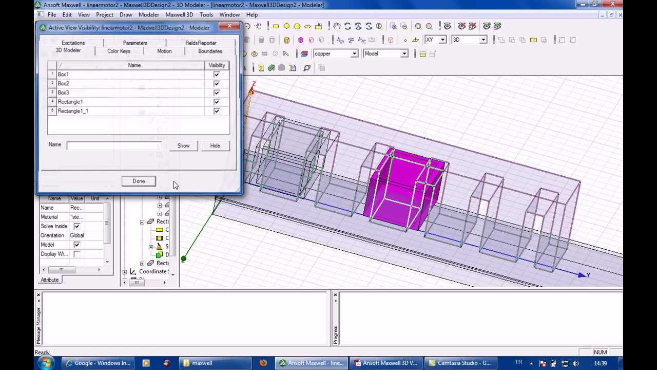 Ansoft Maxwell 3d Linear Induction Motor Part2 Youtube