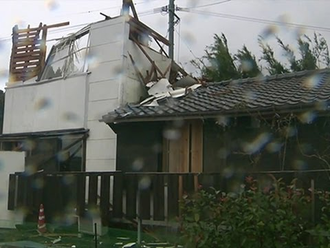 Raw: Typhoon Damage Across Japan