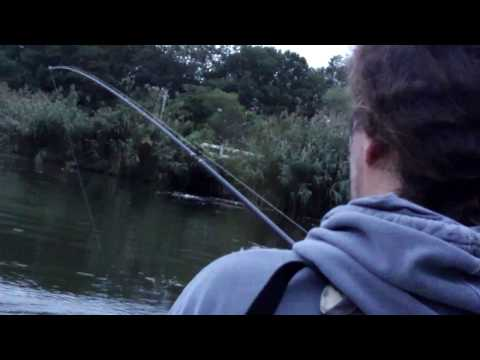 Kayak Fishing For Large Mouth Bass in Mine Hill New Jersey Sept 2009