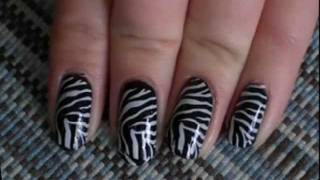 Zebra Nails from    طلاء الاظافر- الحمار الوحشي
