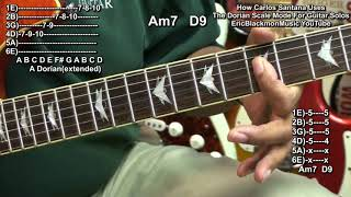 How Carlos Santana Uses The Dorian Scale Mode To Play Guitar Solo Melodies Oye Como Va