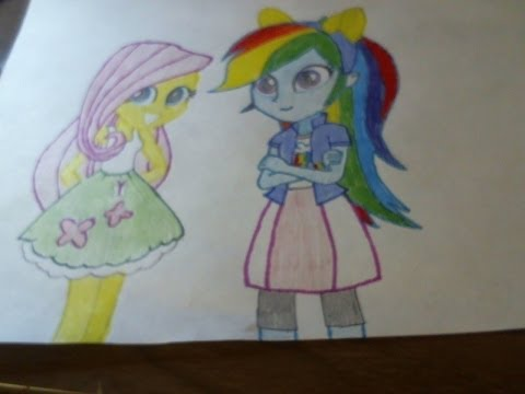 Coloring my MLP Equestria Girls Rainbow Dash and Fluttershy Drawing