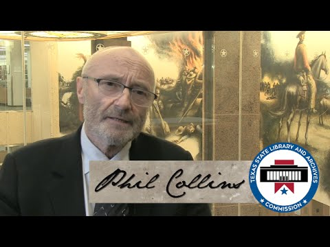 Phil Collins Visits the Texas State Library and Archives