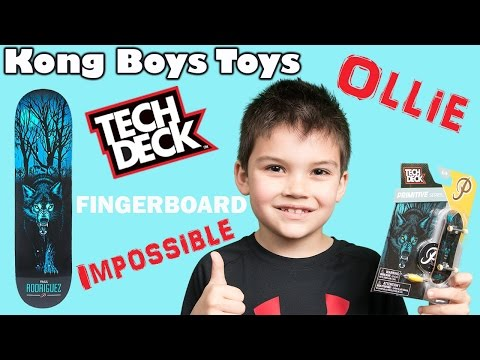 Primitive Tech Deck Fingerboard vs Tony Hawk Circuitboard comparison close up - Toy Review