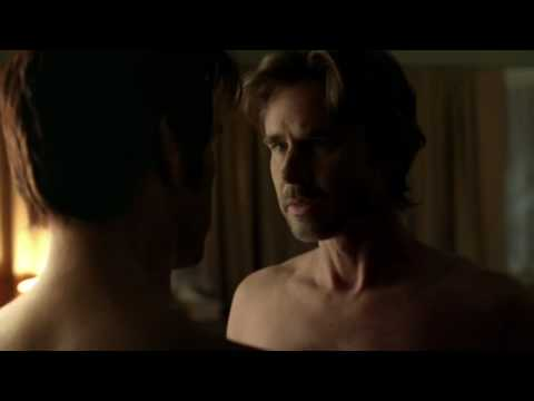 True Blood: Sam Merlotte and Bill Compton gay shower scene