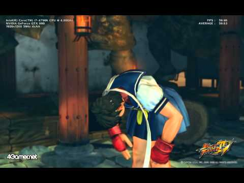Street Fighter IV Benchmark 60 FPS test clip